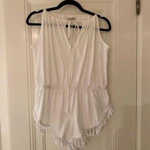 Victoria's Secret white tassel swimsuit cover